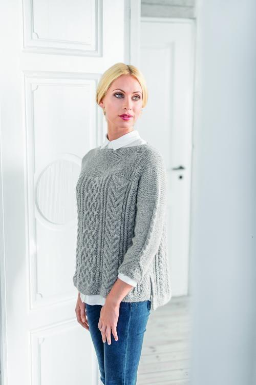 Gratis fragt på Sweater - Maskerader nr. 33 fra Du Store Alpakka - kit