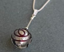 Murano glass crystal and black drop pendant