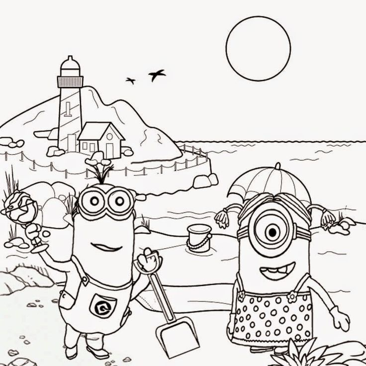 Minions beach tropical sands