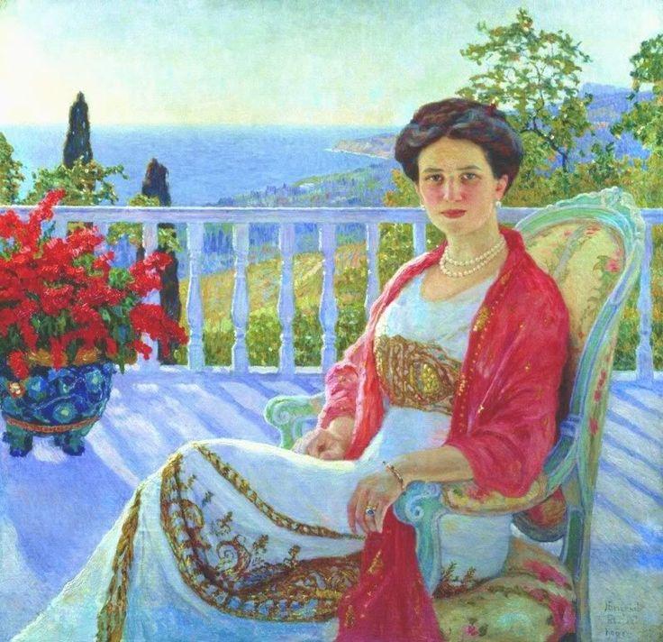 Irina Youssoupov by Nikolai Bogdanov Belsky, 1914:
