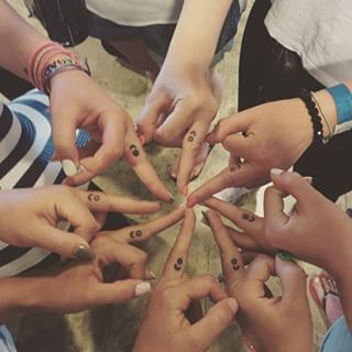 Stars and crescents | 29 Matching Tattoos That Will Give You Serious Squad Goals