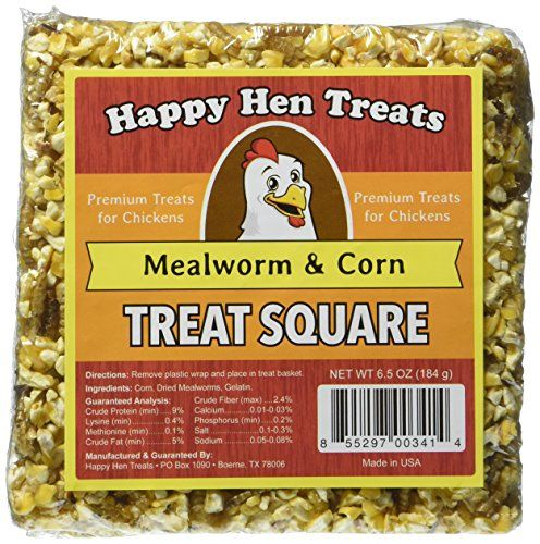 Your chickens will go wild for this Mealworm & Corn Treat Square! They will be clucking and jumping over each other before you can even get your treat out of the package. This 7 oz. Treat Square is al...