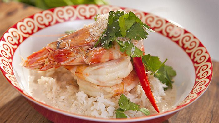 Coconut Poached Prawns -  (Everyday Gourmet. Justine)