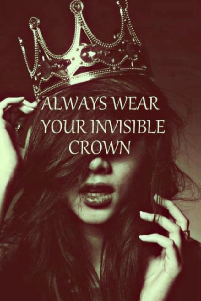 You are  regal. You are poised. You are a delight. You can do this. Remember.
