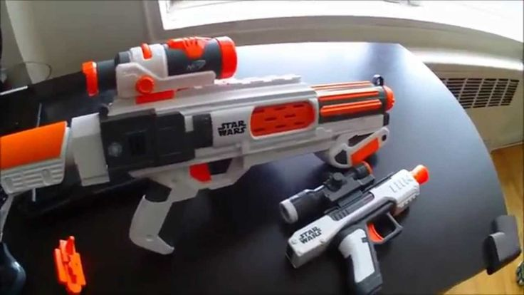 Hey, I love the new Star Wars Nerf Blasters from Hasbro. But I don't think I'd use them with the attachments that they come with. Watch the video and see which Nerf attachments I throw on these blasters in the end...