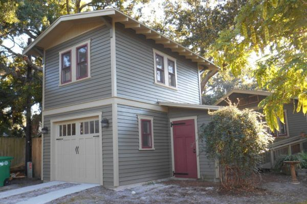 Two Story One Car Garage Apartment Construction Plans | Historic Shed