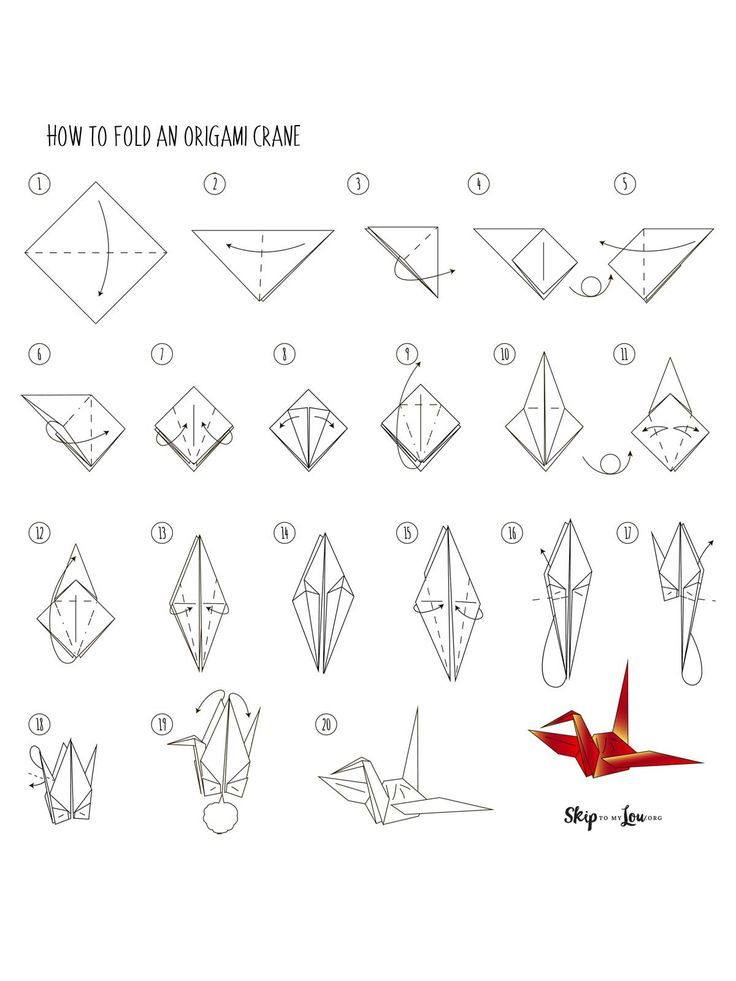 illustrated printable origami instructions