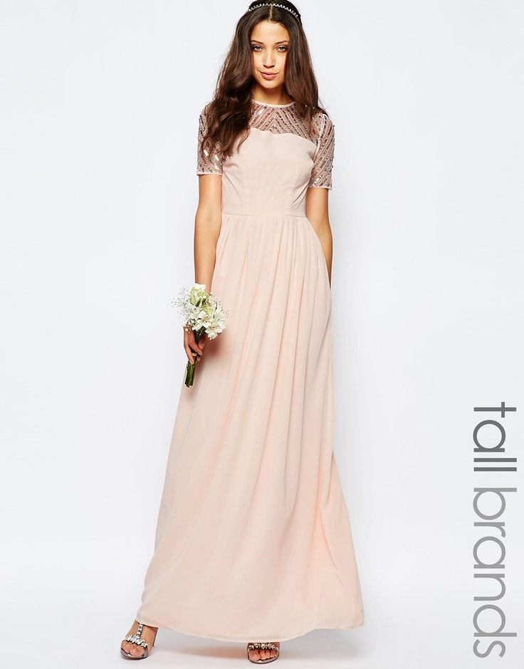 Maya Tall Chiffon Embellished Maxi Dress