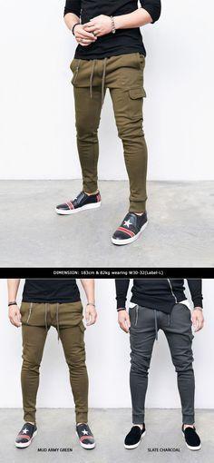 Bottoms :: Sweatpants :: Re) Unbalanced Zip & Cargo Cuffed Jogger-Sweatpants
