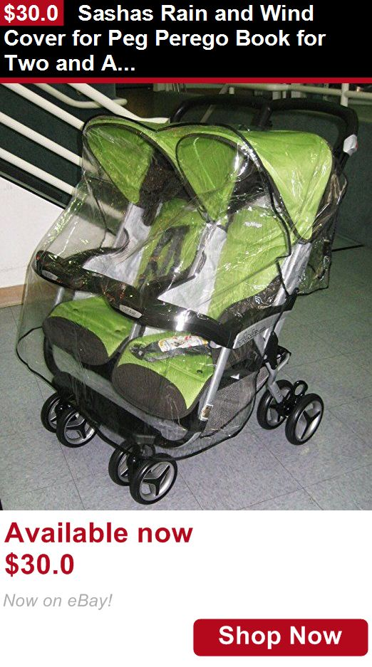 Other Stroller Accessories: Sashas Rain And Wind Cover For Peg Perego Book For Two And Aria Twin Double Stro BUY IT NOW ONLY: $30.0
