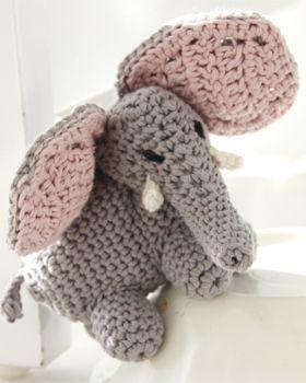Hæklede dyr - hæklet elefant