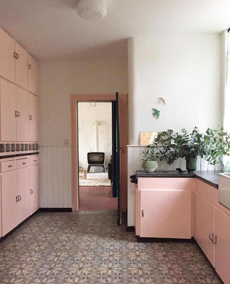 Pink Cabinets In The Belgium Home Of French Stylist Anne Millet Founder Bonjour Brand