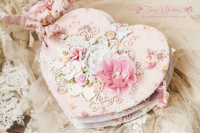 Вдохновение: Нежный миник в форме сердца и Блог-Хоп от Wycinanka!/Wycinanka Blog Hop