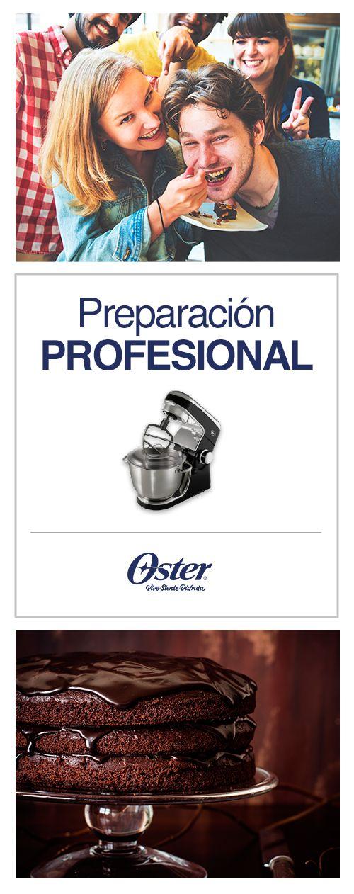 Agiliza la preparación de postres y recetas, con la batidora planetaria Oster.