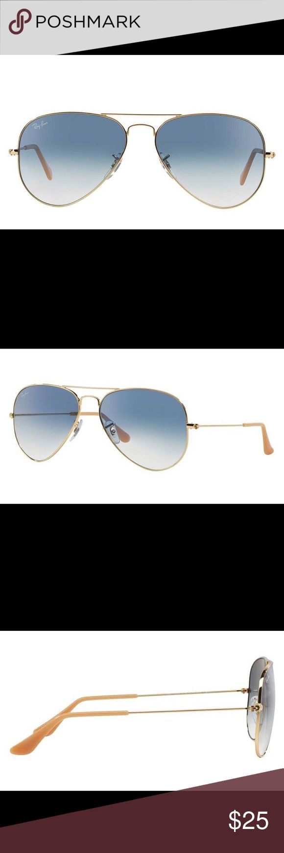 Ray ban blue gradient aviators Light wear; screws a little loose but you can take it in to any eyeglass store and have them tighten it for you.  Comes with sunglass case Ray-Ban Accessories Sunglasses