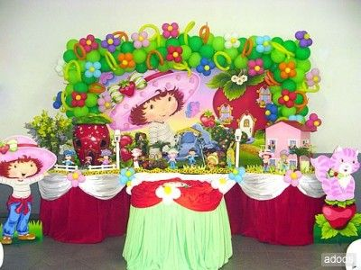 Fiesta para nina de 5 tema rosita fresita decoracion de - Decoraciones infantiles para ninos ...