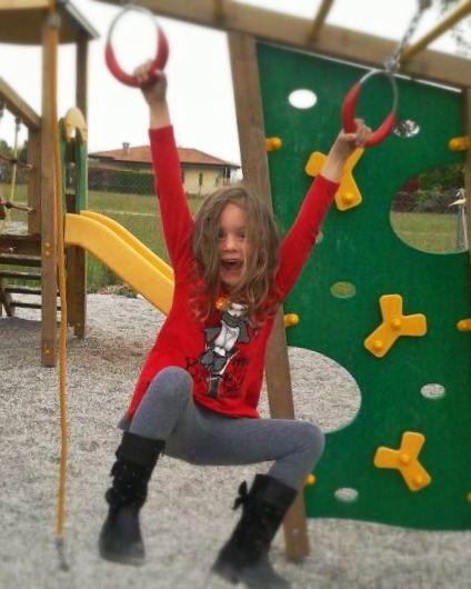Bellissima Alissa!!! Bimbi felici nell'HappyCoopers! Parco giochi interno ed esterno!