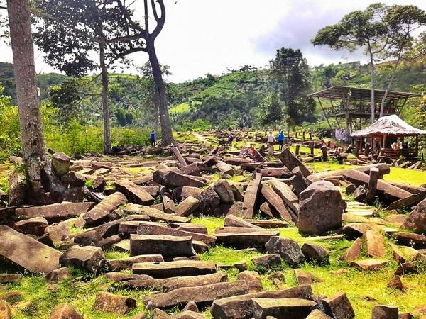 The Gunung Padang Site is the biggest megalithic site in Southeast Asia West Java this pic was taken by @thejapra @liburanlokal