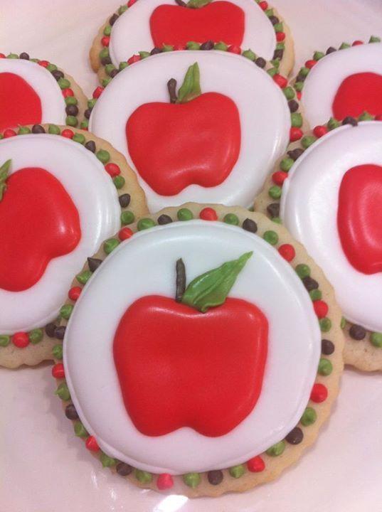 Apple cookies for back to school!  https://scontent-b-ord.xx.fbcdn.net/hphotos-prn1/s720x720/552759_492768774076111_2077500086_n.jpg