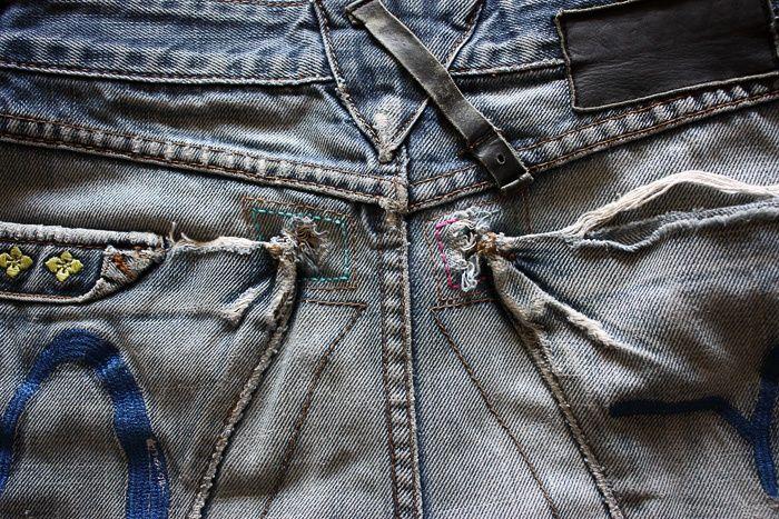 Шорты из джинсов бойфренда (DIY) / Шорты / ВТОРАЯ УЛИЦА