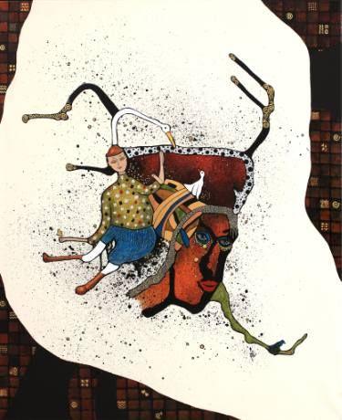 """Saatchi Art Artist Jette Reinert; Painting, """"Africa's Queen"""" #art"""