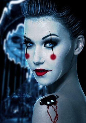 Cute Clown Halloween Makeup Ideas
