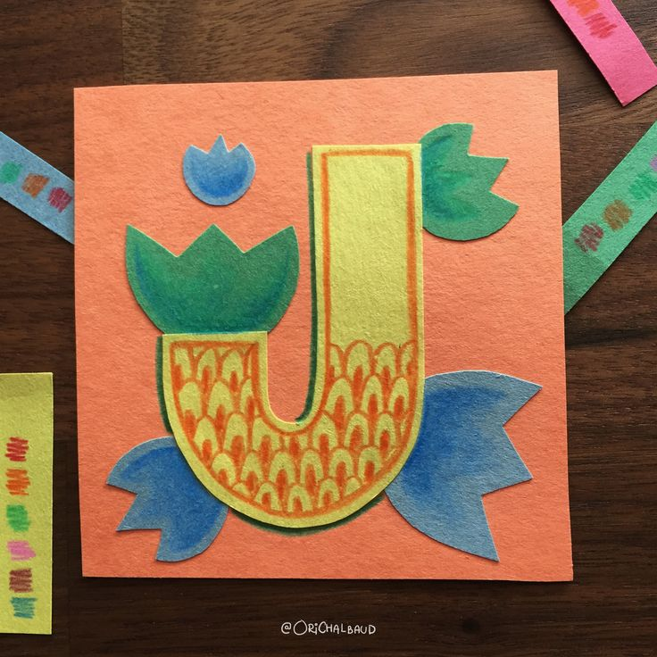 Letter J!. This is part of a paper art type I'm making for 36 days of type and also part of my 100 days project about paper art! :)