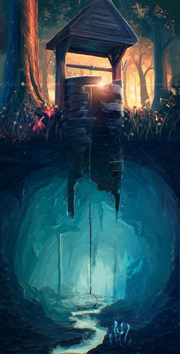 25 cool illustrations paintings drawings wishing well for Cool fantasy drawings