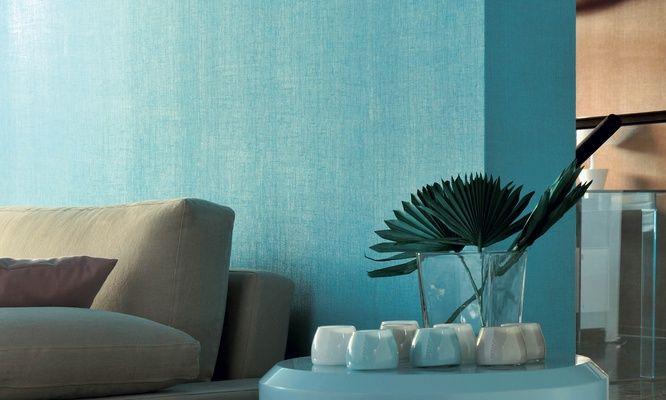 Elitis Foulards Abaca.  Modern burlap textured vinyl wallpaper.