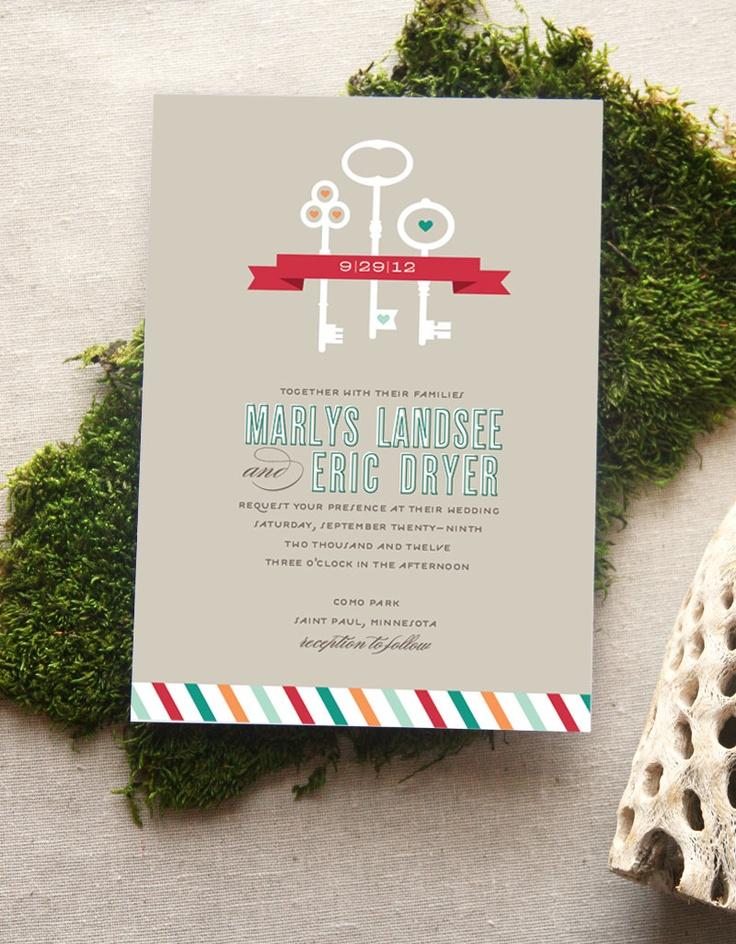 Skeleton Key Wedding Invitation by Cheerupcherup on