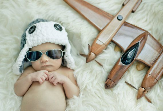 READY TO SHIP Baby boy hat  Newborn Aviator Hat  you by tinab76, $15.00