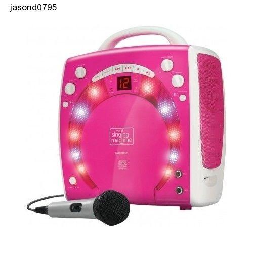 Singing Machine Karaoke Party Voice Fun Play Lights Microphone Portable 3 CD Kid