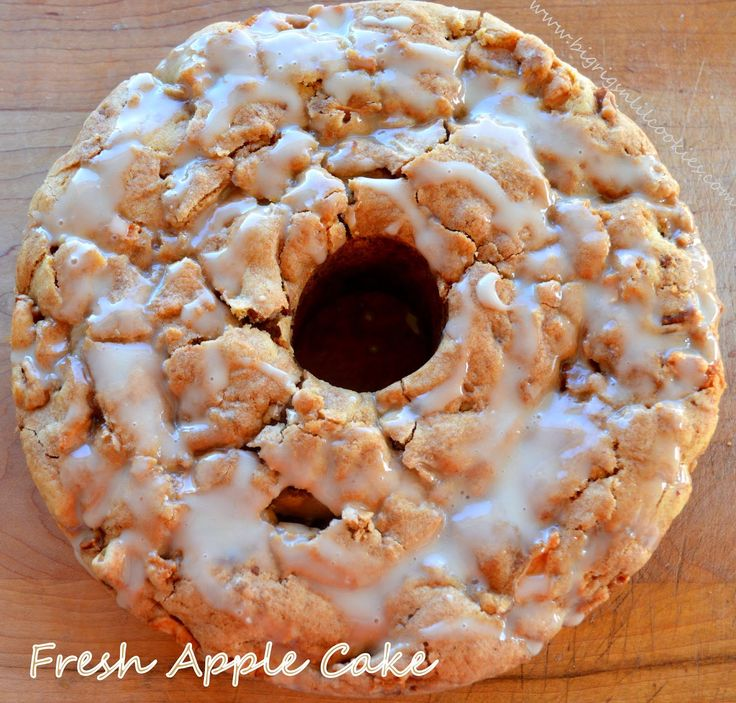 Big Rigs 'n Lil' Cookies: Fresh Apple Cake with Honey Glaze
