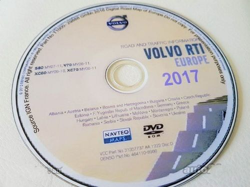 VOLVO NAVIGATION RTI MMM2 SAT NAV update DISC DVD EUROPE 2017-2018