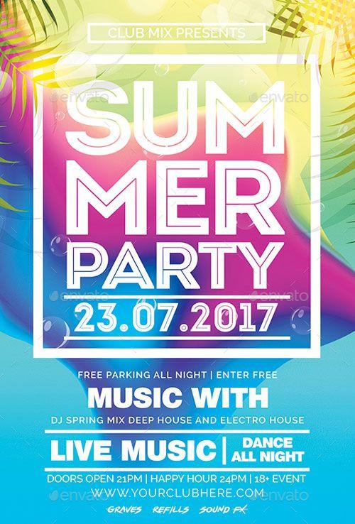 Summer Party Club Flyer Template - https://ffflyer.com/summer-party-club-flyer-template/ Enjoy downloading the Summer Party Club Flyer Template by DESIGNBLEND   #Beach, #Club, #Dance, #Dj, #Edm, #Electro, #Event, #Nightclub, #Party, #Summer, #Tropical