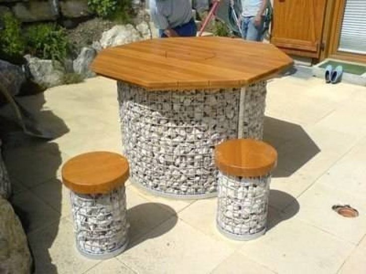 Furniture from crushed stones