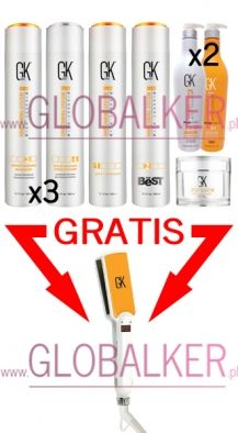 GKhair Keratin Treatment set THE BEST 300ml. Global Keratin Juvexin sklep warszawa. Oferta dla salonów Free Iron