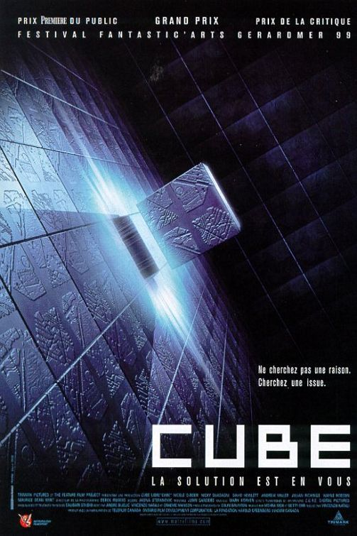 Cube (1997) 7 complete strangers of widely varying personality characteristics are involuntarily placed in an endless kafkaesque maze containing deadly traps.  #movie