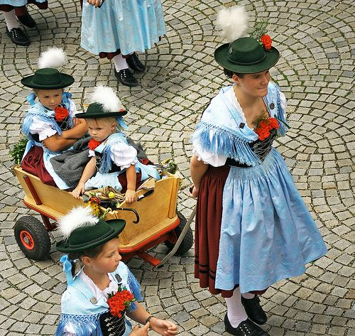 Impressions of a pageant of traditional costumes in Bad Reichenhall  - seen from my window! (21) Bavaria, Germany