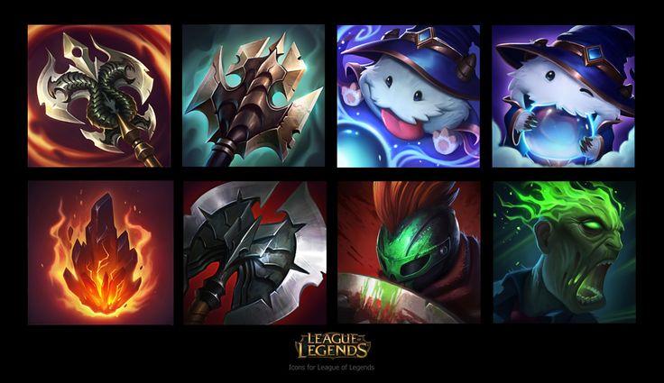 ArtStation - Icons for League of Legends, Jem Flores