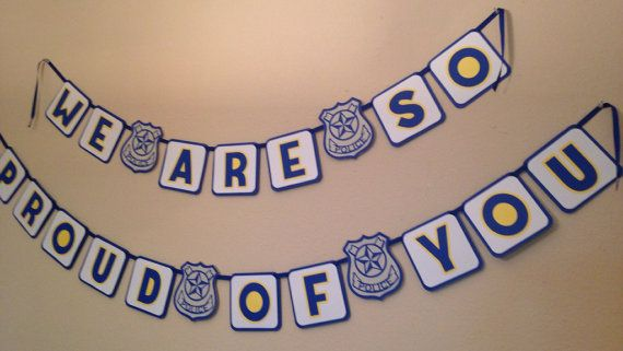 Police theme Congratulations Banner and by MyBabyShowerBoutique