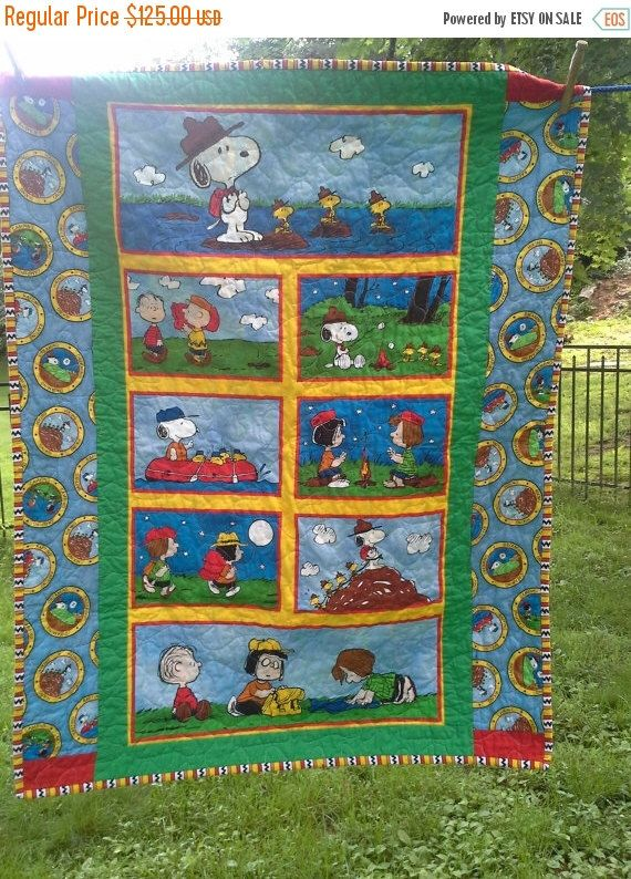 SALE Snoopy Crib Quilt Snoopy Nursery Bedding Woodstock Toddler Peanuts Wallhanging Charlie Brown Lucy Nursery Toddler Camping Toddler Birth by QuiltsForU2 on Etsy https://www.etsy.com/listing/192904951/sale-snoopy-crib-quilt-snoopy-nursery