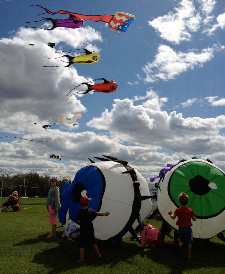 The International Kite Festival in Dieppe, NB. Great fun for the young & young-at-heart!