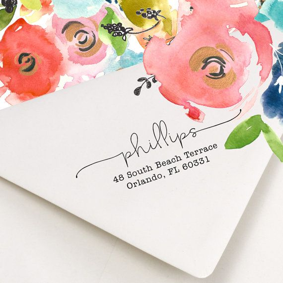 How stylish is this address stamp! We love it. Perfect for planning a wedding and for your wedded life afterwards. Address Stamp - Return Address Stamp - Personalized Address Stamp - Self Ink Address Stamp - Lovely Lines - Wedding Invitations - No. 41