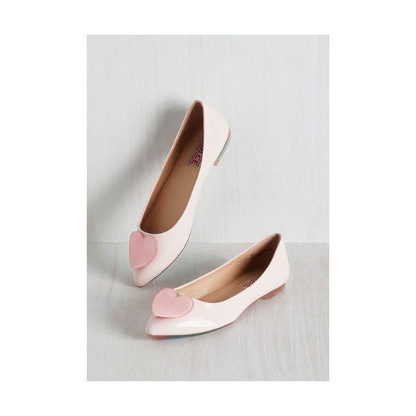 Pastel Door to Ardor Flat ($50) ❤ liked on Polyvore featuring shoes, flats, ballet flat, flat, pink, ballet shoes, patent ballet flats, patent leather flats, pink ballet shoes and pink ballet flats