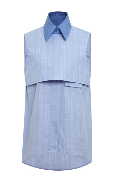 Blue And Pale Blue Danube Shirt by Ellery - Moda Operandi
