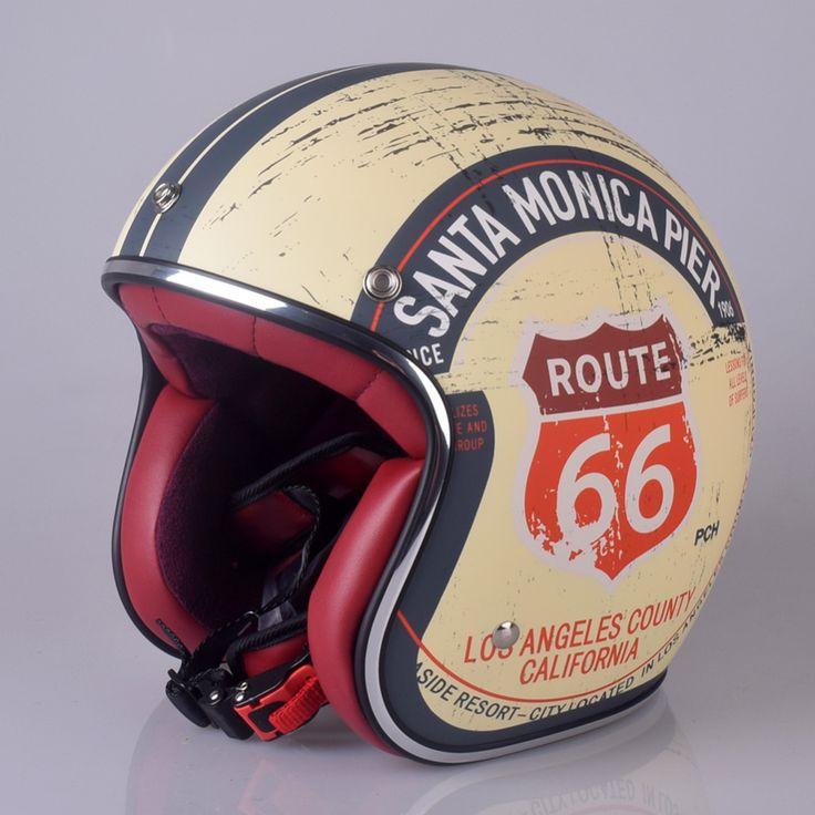 Promo Retro Chopper Route 66 Motorcycle Helmet Harley 3/4 Open Face Vintage Helmet Moto Casque Casco Motocicleta Capacete Helmets #Retro #Chopper #Route #Motorcycle #Helmet #Harley #Open #Face #Vintage #Moto #Casque #Casco #Motocicleta #Capacete #Helmets