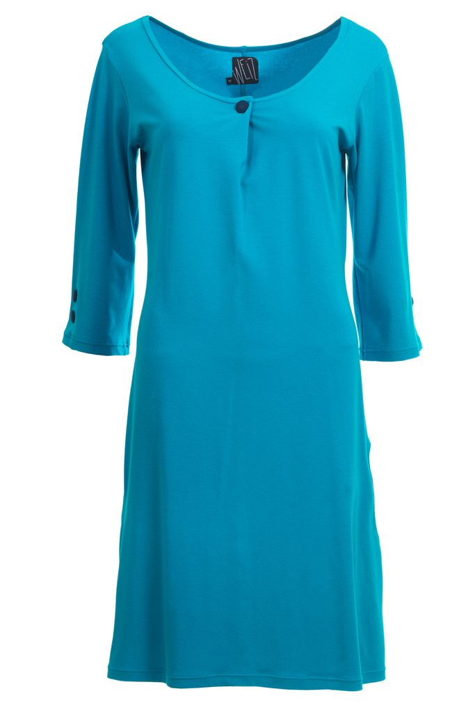 Tunic inspired turquoise Holly dress, just to nice to wear all the time.