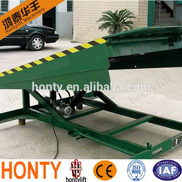 China factory sales 10 Ton Loading Capacity hydraulic car ramp for Forklift