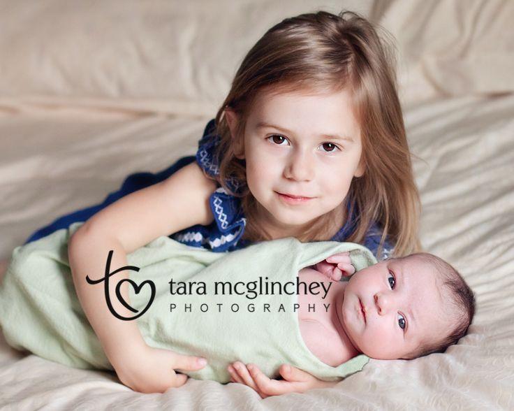 Two week old newborn with big sister, NJ Newborn Photographer.
